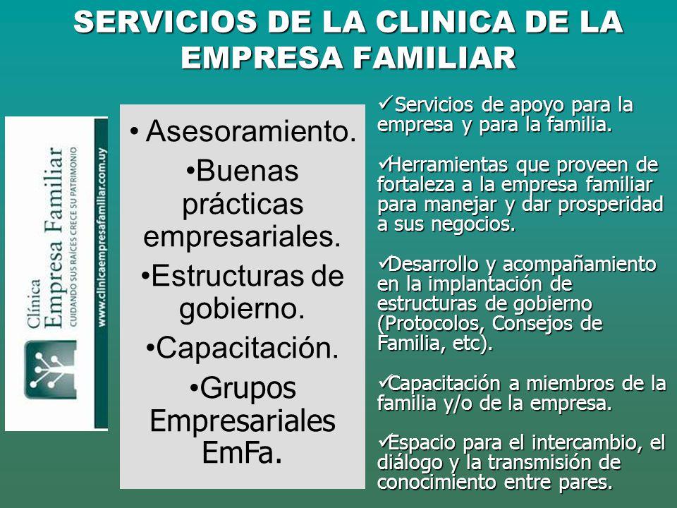 SERVICIOS DE LA CLINICA DE LA EMPRESA FAMILIAR