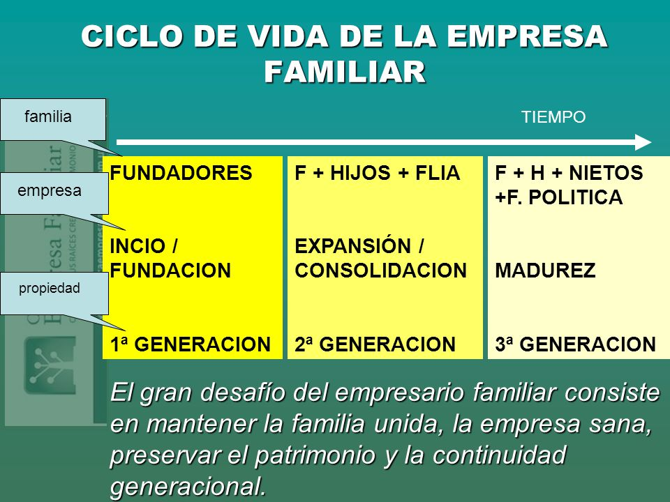 CICLO DE VIDA DE LA EMPRESA FAMILIAR