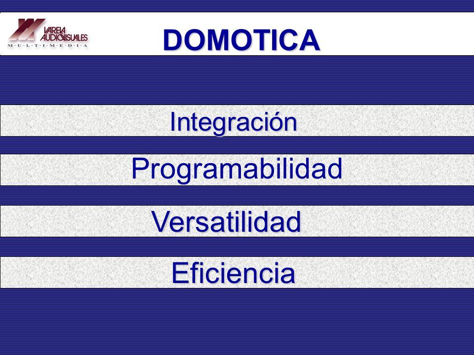 DOMOTICA Integración Programabilidad Versatilidad Eficiencia