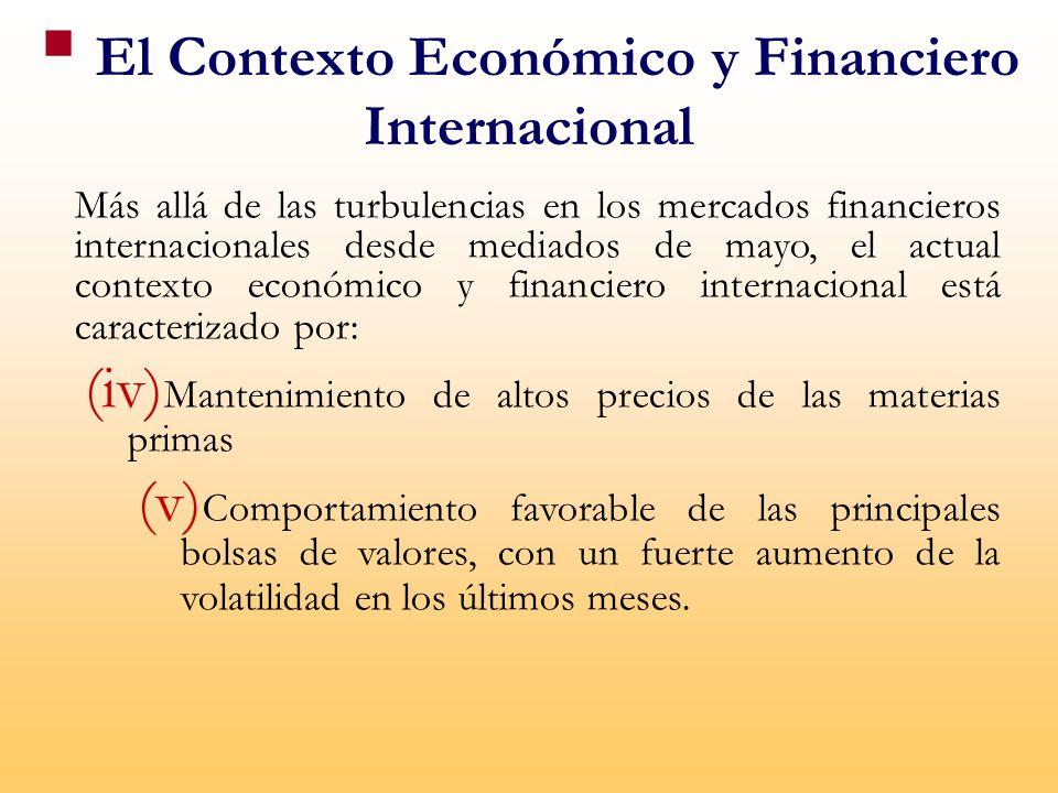 El Contexto Económico y Financiero Internacional