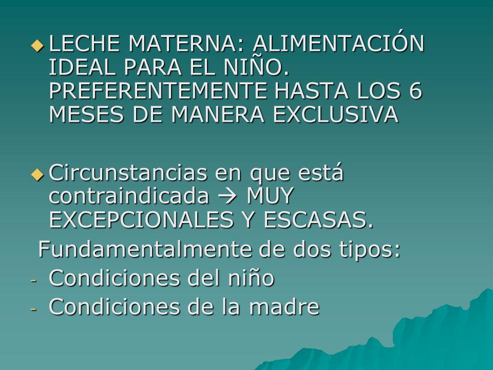 LECHE MATERNA: ALIMENTACIÓN IDEAL PARA EL NIÑO
