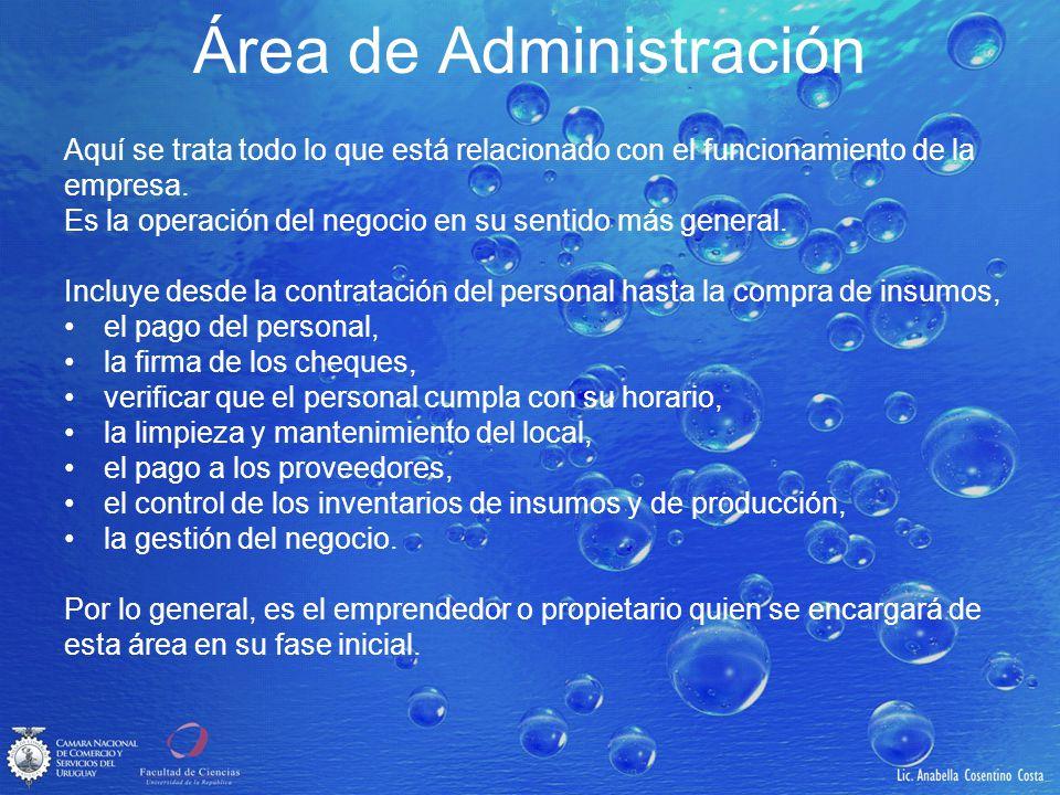 Área de Administración