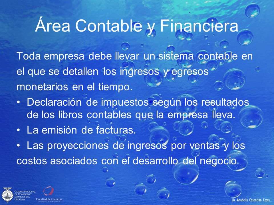 Área Contable y Financiera