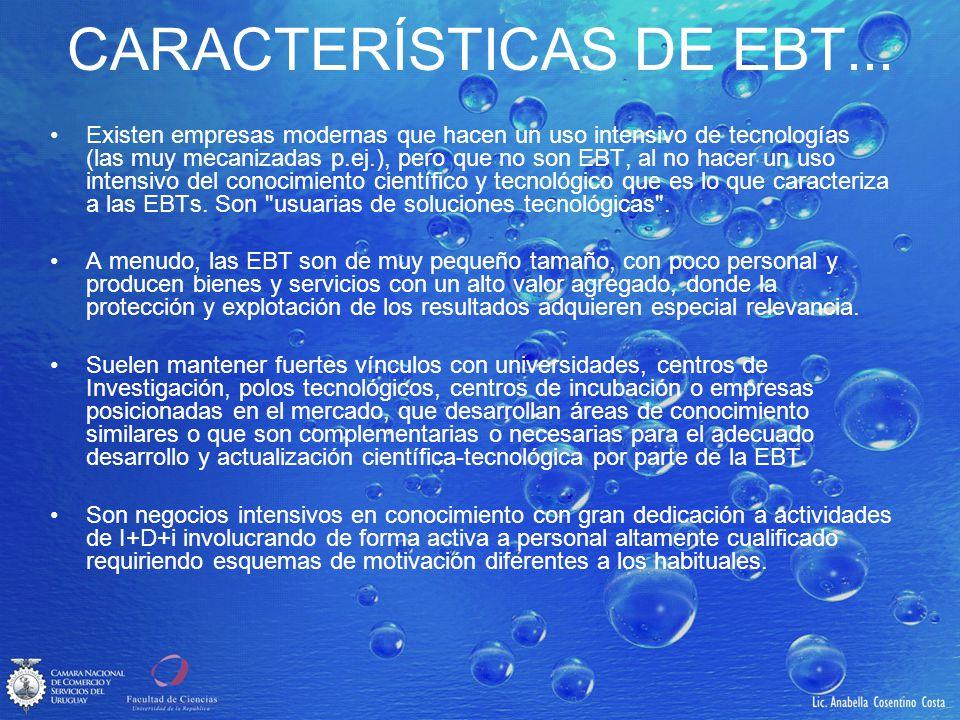 CARACTERÍSTICAS DE EBT...