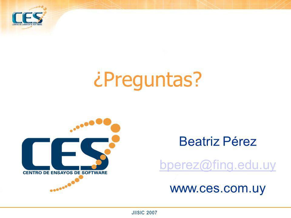 ¿Preguntas Beatriz Pérez bperez@fing.edu.uy www.ces.com.uy
