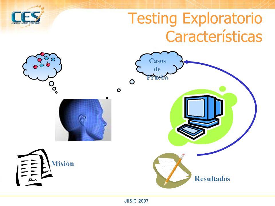 Testing Exploratorio Características