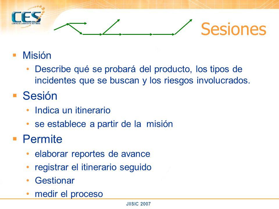 Sesiones Sesión Permite Misión