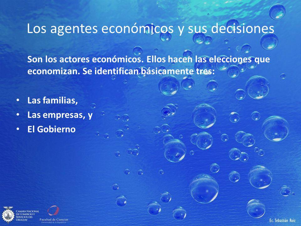 Los agentes económicos y sus decisiones
