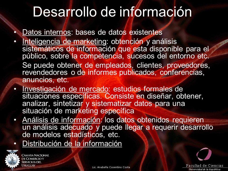 Desarrollo de información