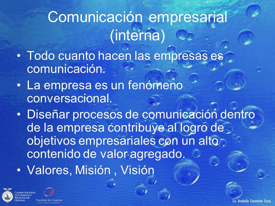 Comunicación empresarial (interna)