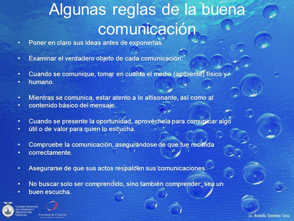 Algunas reglas de la buena comunicación