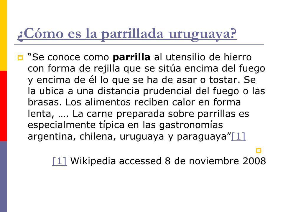 ¿Cómo es la parrillada uruguaya