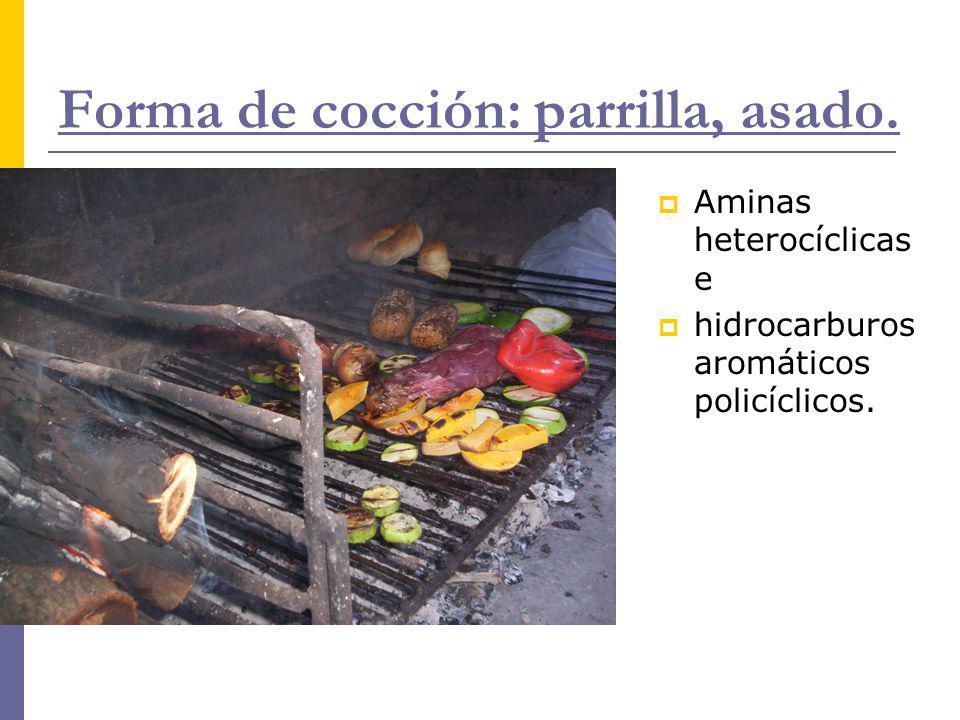 Forma de cocción: parrilla, asado.