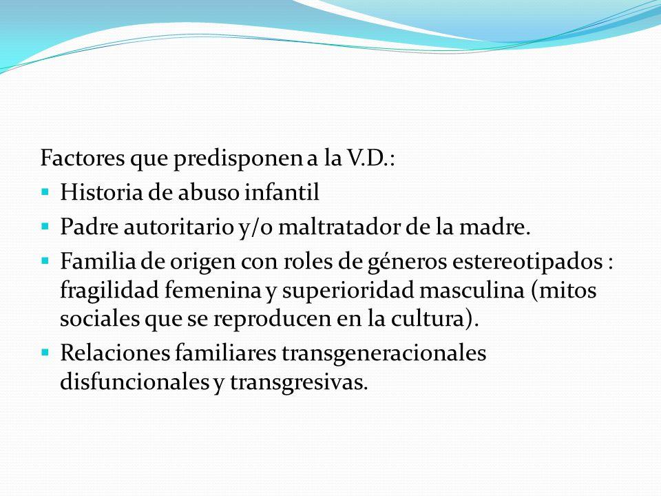 Factores que predisponen a la V.D.: