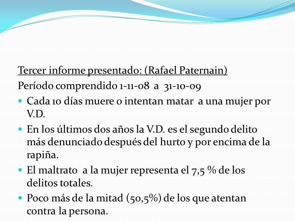 Tercer informe presentado: (Rafael Paternain)