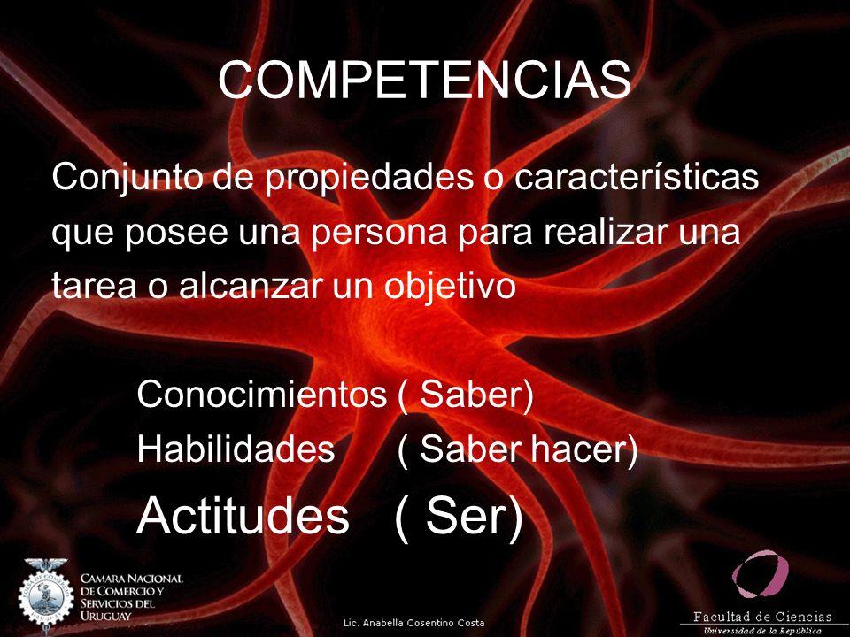 COMPETENCIAS Conjunto de propiedades o características