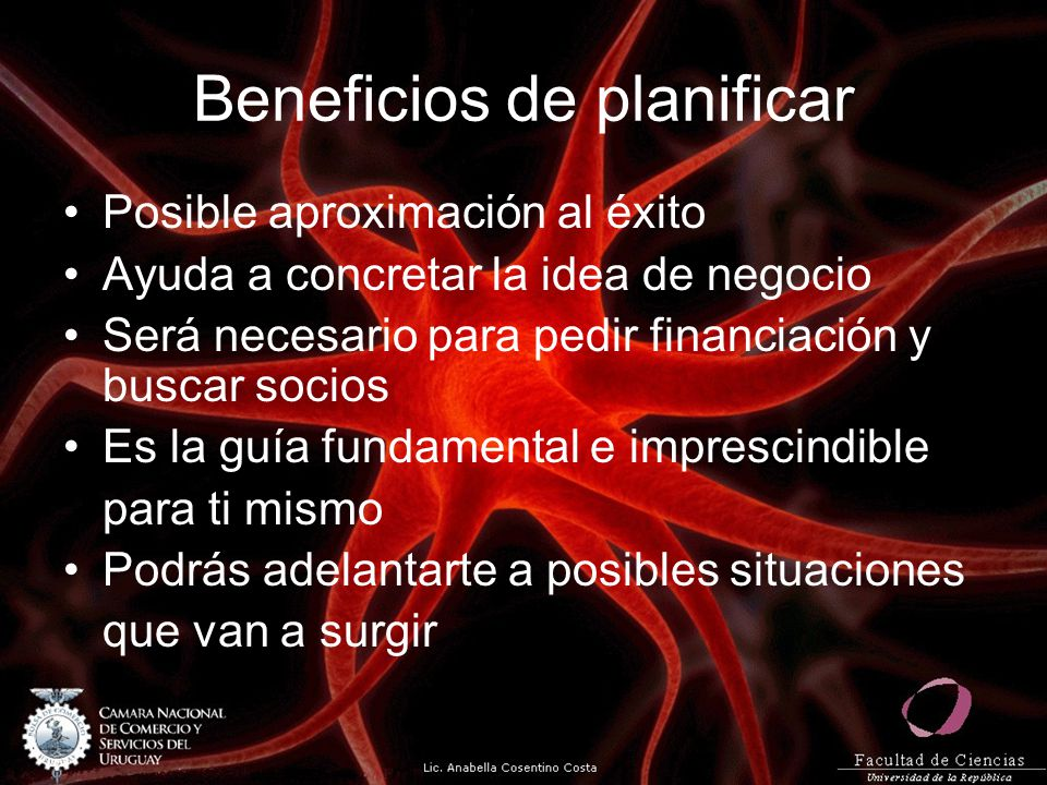 Beneficios de planificar