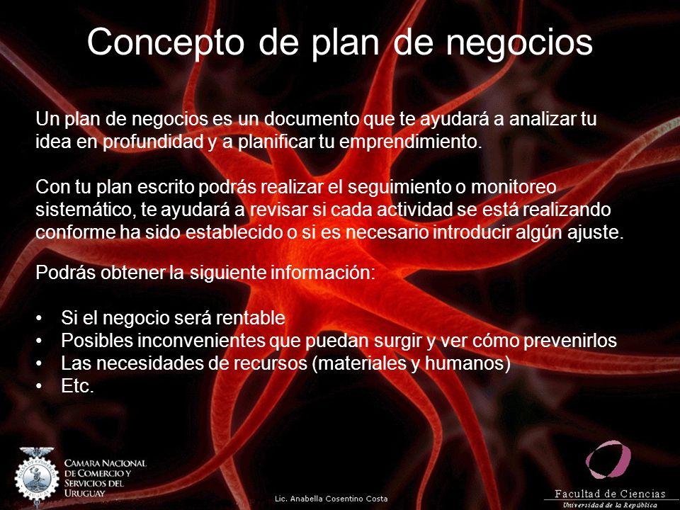 Concepto de plan de negocios