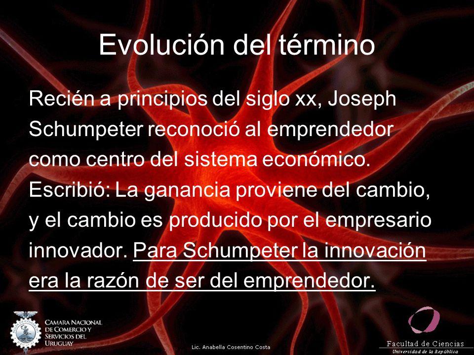 Evolución del término Recién a principios del siglo xx, Joseph