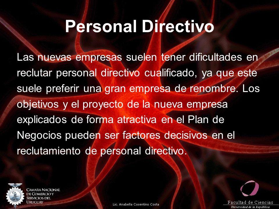 Personal Directivo Las nuevas empresas suelen tener dificultades en