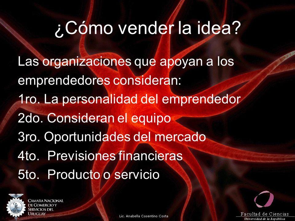 ¿Cómo vender la idea Las organizaciones que apoyan a los