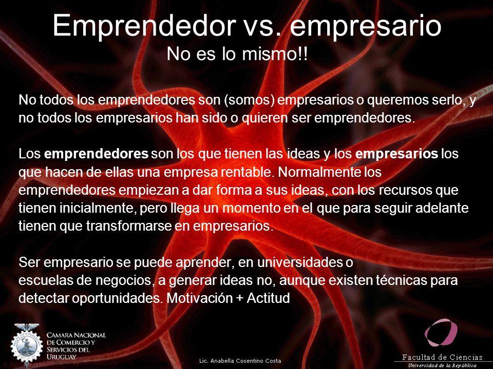 Emprendedor vs. empresario