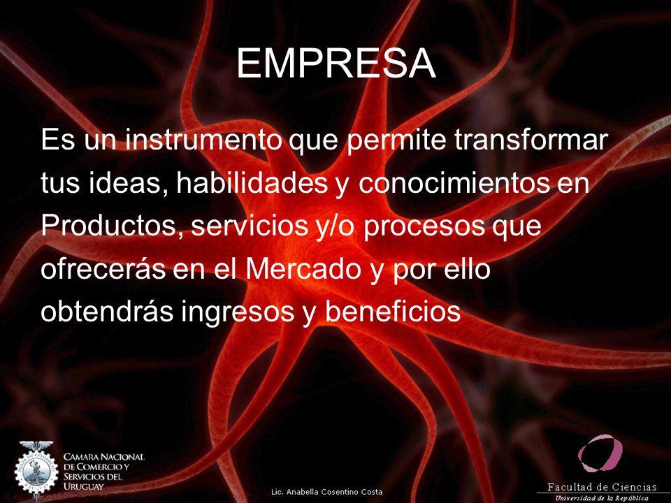 EMPRESA Es un instrumento que permite transformar