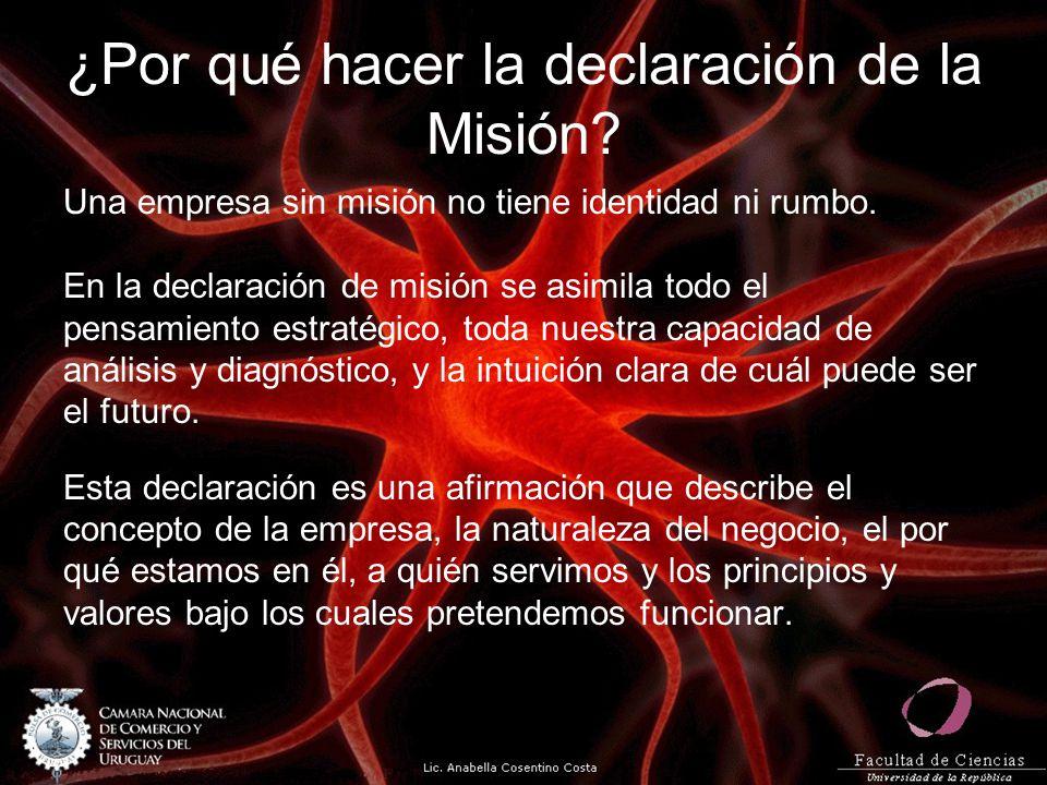 ¿Por qué hacer la declaración de la Misión