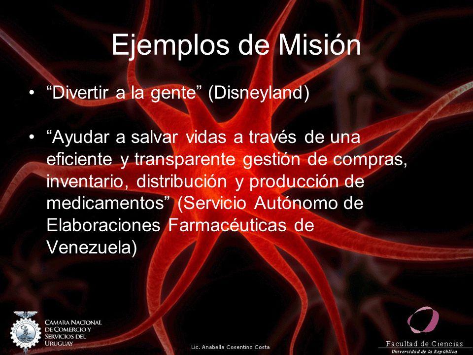 Ejemplos de Misión Divertir a la gente (Disneyland)