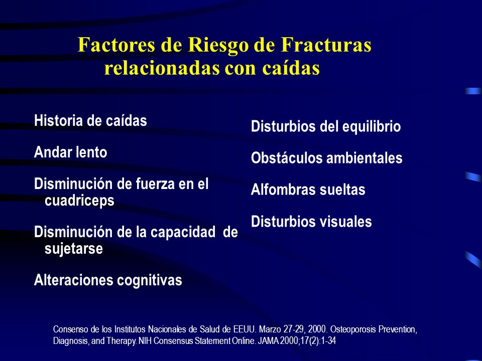 Factores de Riesgo de Fracturas relacionadas con caídas