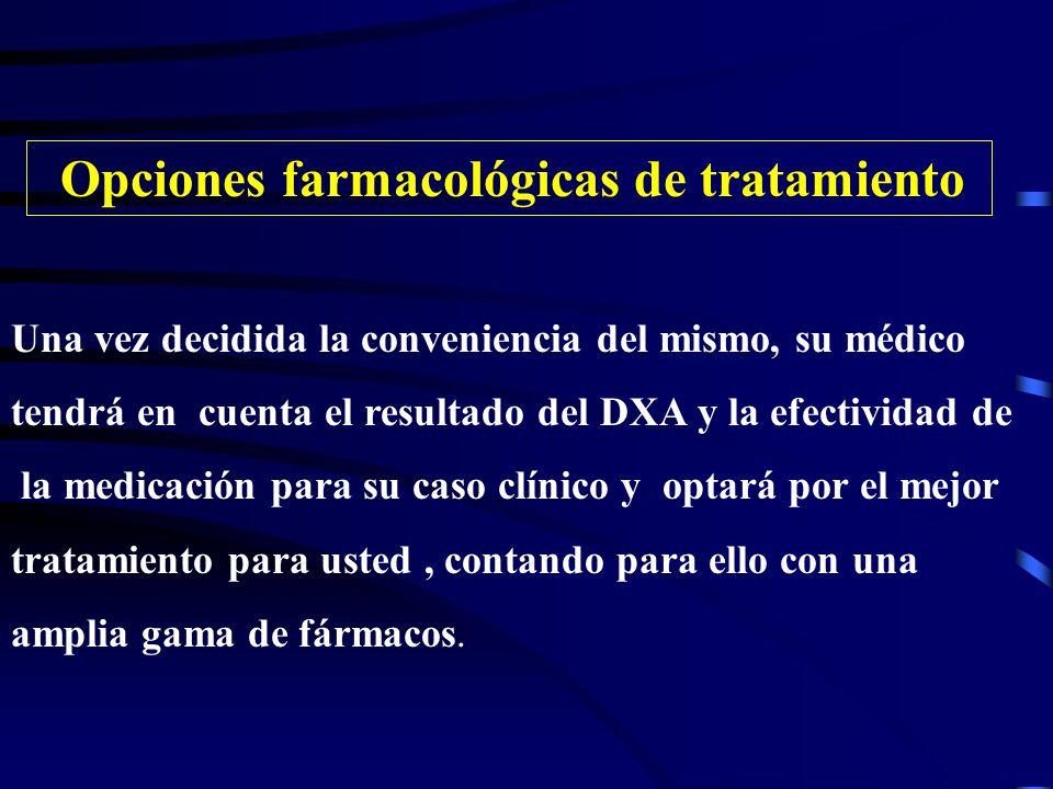 Opciones farmacológicas de tratamiento
