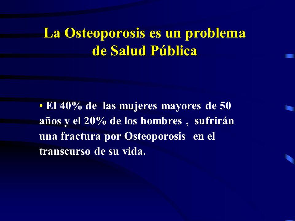 La Osteoporosis es un problema de Salud Pública