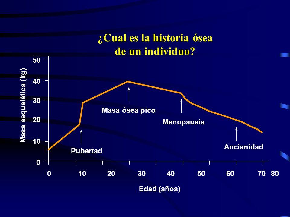 ¿Cual es la historia ósea de un individuo