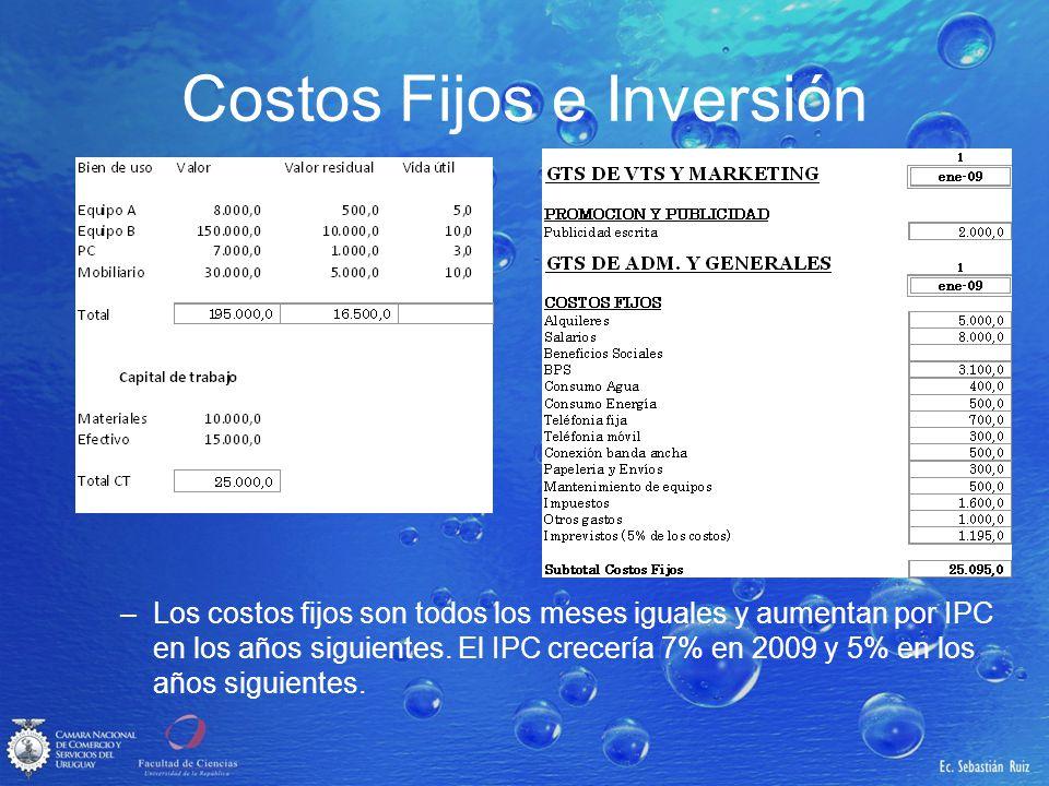 Costos Fijos e Inversión