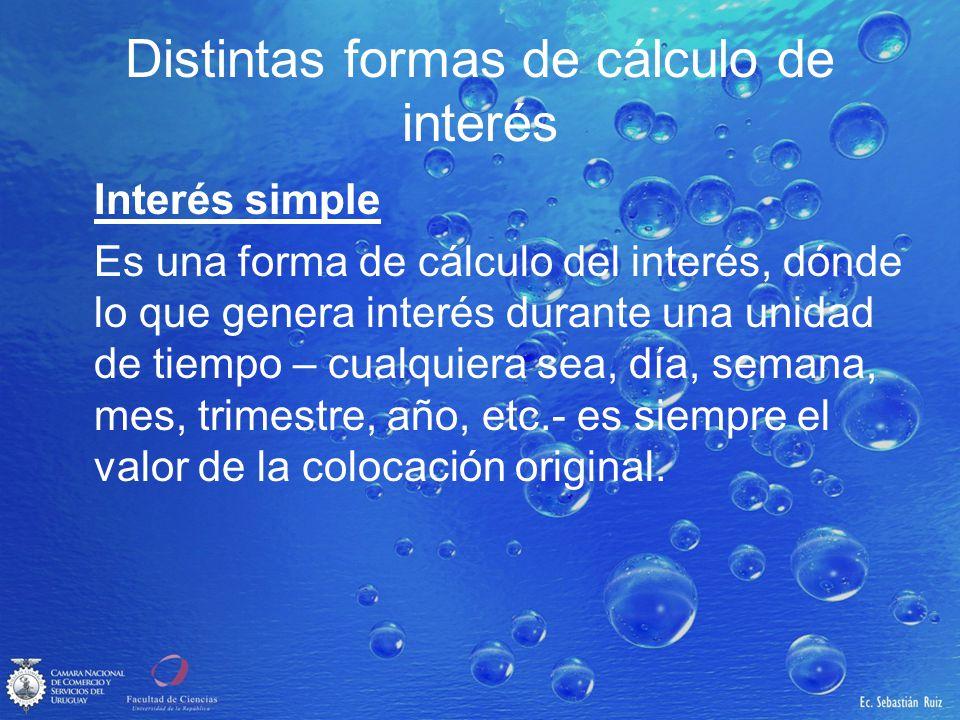 Distintas formas de cálculo de interés