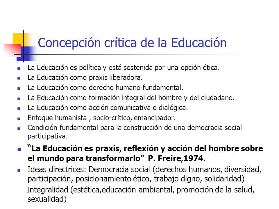 Concepción crítica de la Educación