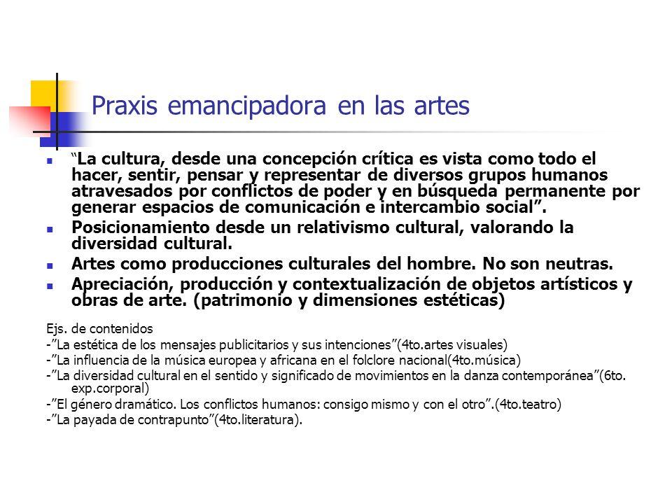 Praxis emancipadora en las artes