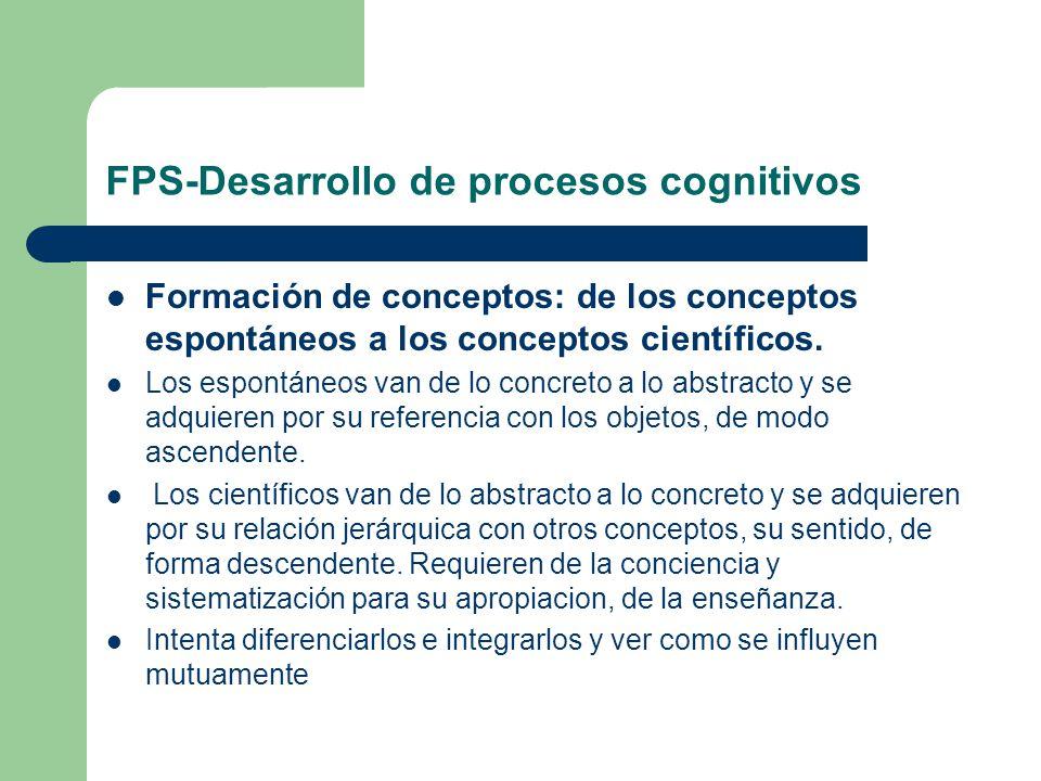 FPS-Desarrollo de procesos cognitivos