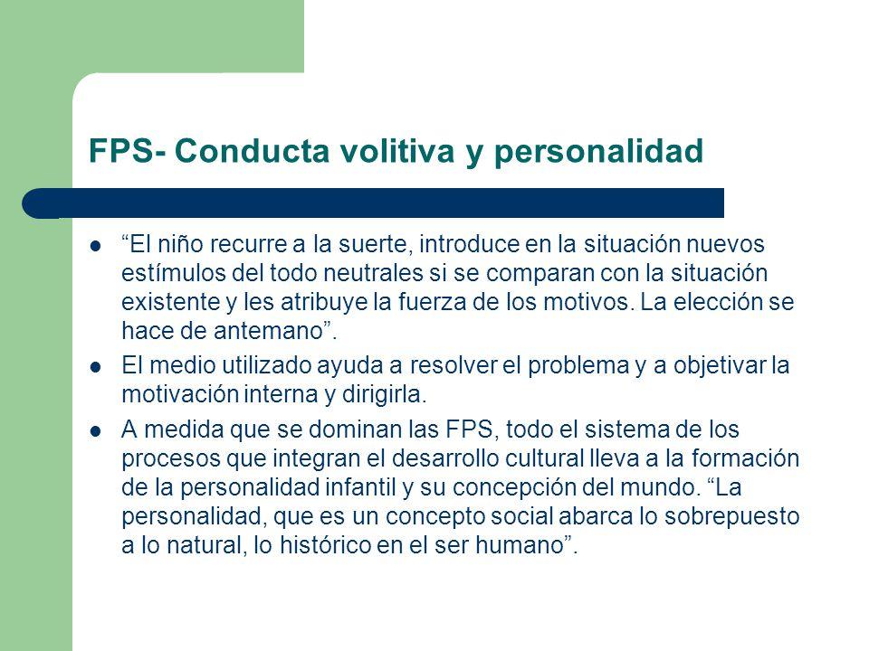FPS- Conducta volitiva y personalidad