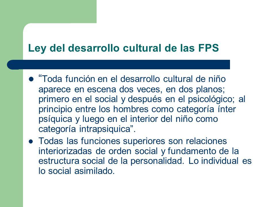 Ley del desarrollo cultural de las FPS