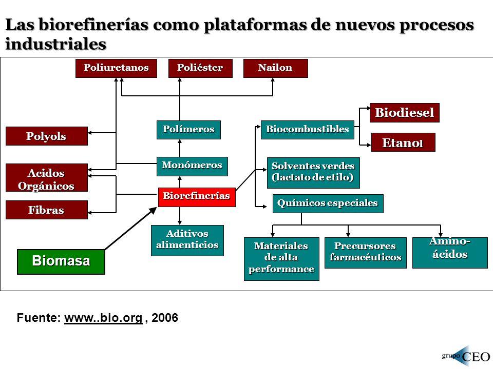 Las biorefinerías como plataformas de nuevos procesos industriales