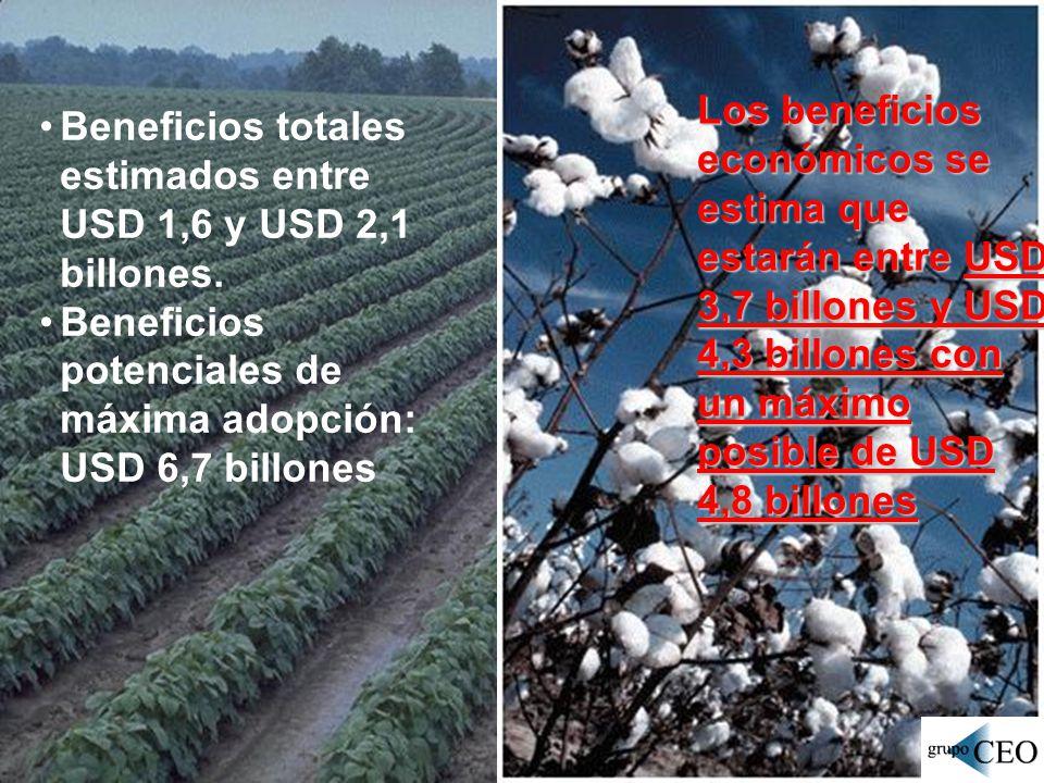 Los beneficios económicos se estima que estarán entre USD 3,7 billones y USD 4,3 billones con un máximo posible de USD 4,8 billones