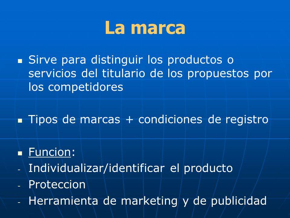La marca Sirve para distinguir los productos o servicios del titulario de los propuestos por los competidores.