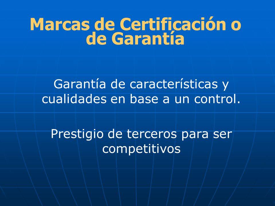 Marcas de Certificación o de Garantía