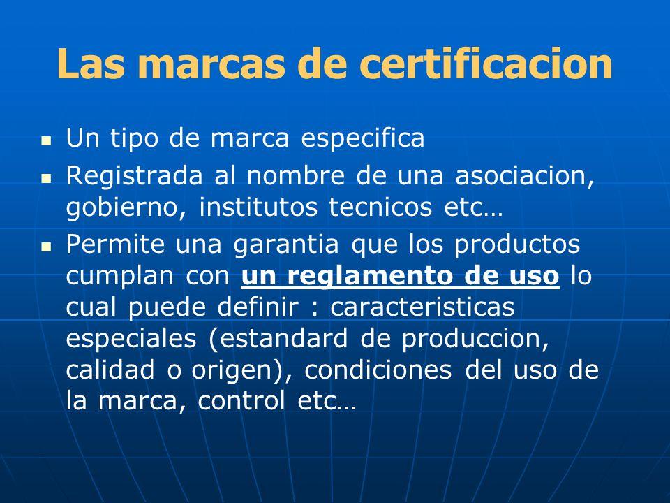 Las marcas de certificacion