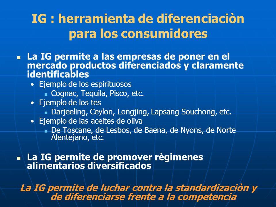 IG : herramienta de diferenciaciòn para los consumidores
