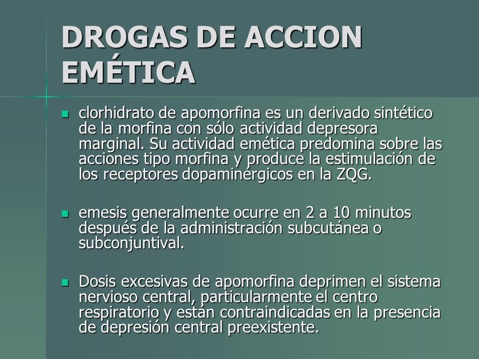 DROGAS DE ACCION EMÉTICA