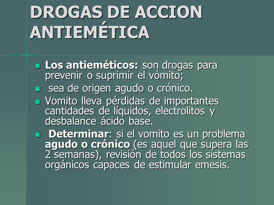 DROGAS DE ACCION ANTIEMÉTICA