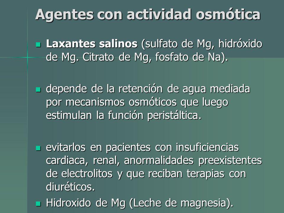 Agentes con actividad osmótica