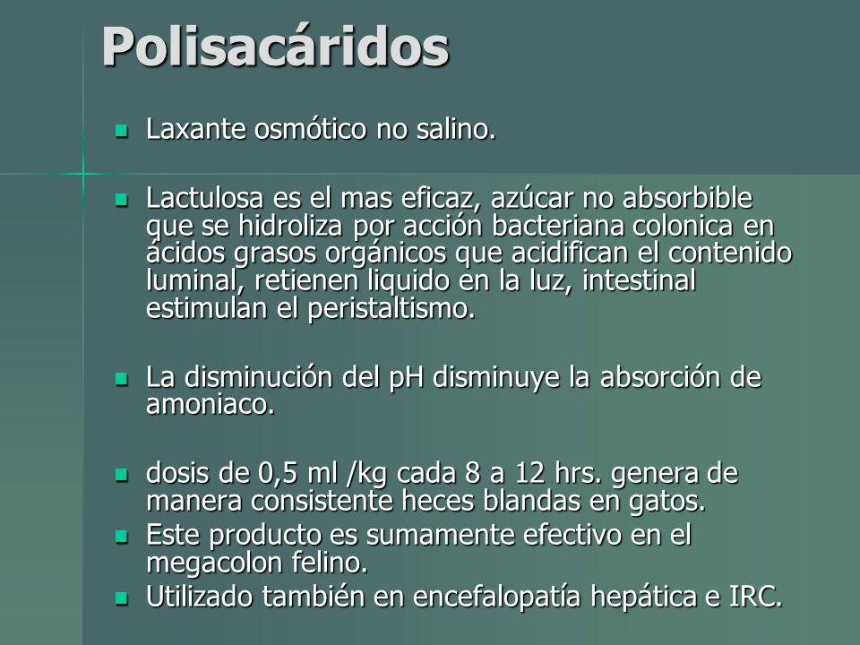 Polisacáridos Laxante osmótico no salino.